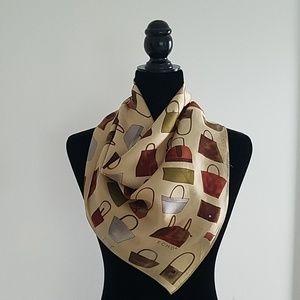 Vintage Echo handbags silk scarf